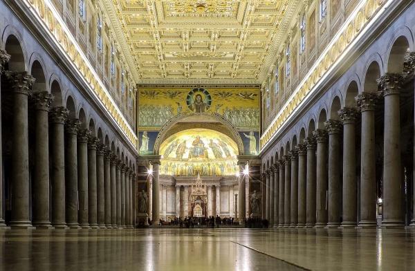 Sankt Paul vor den Mauern (italienisch: San Paolo fuori le Mura) ist eine der Papstbasiliken von Rom. - Foto: loveombra-pixabay.com