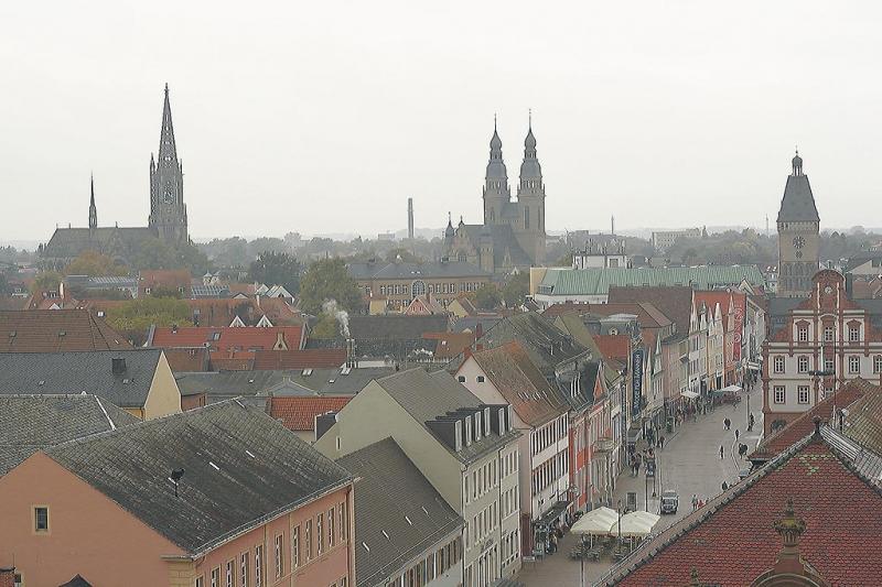 Der Blick von oben zeigt wie schön Speyer ist.