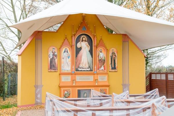 Der Bildstock der Göttlichen Barmherzigkeit befindet sich in Paderborn-Marienloh.