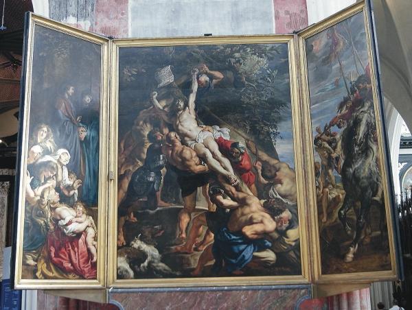 Die Kreuzerhöhung von Rubens ist ein Höhepunkt der Kunstwerke in der Antwerpener Kathedrale. Foto:NG