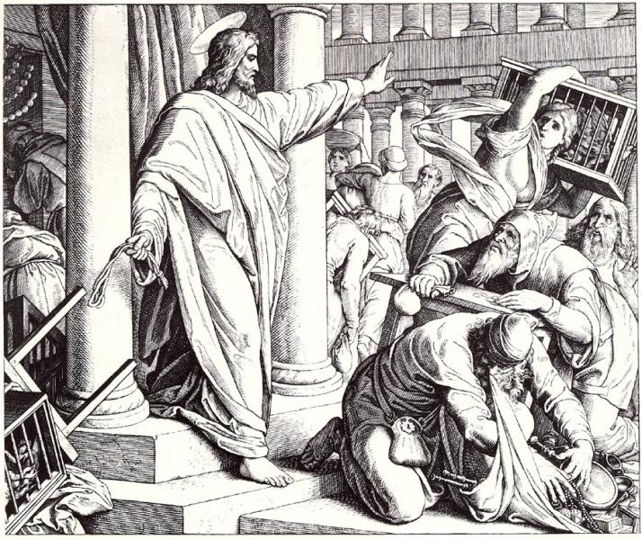 Foto: Julius Schnorr von Carolsfeld, Die Tempelreinigung, aus: Die Bibel in Bildern, Leipzig 1860