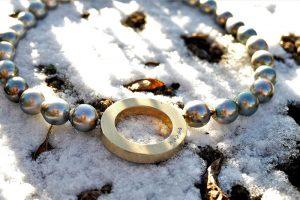 Collier im Schnee